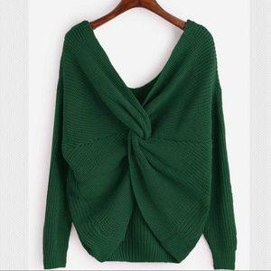 Cozy Green Twist-A-Sweater